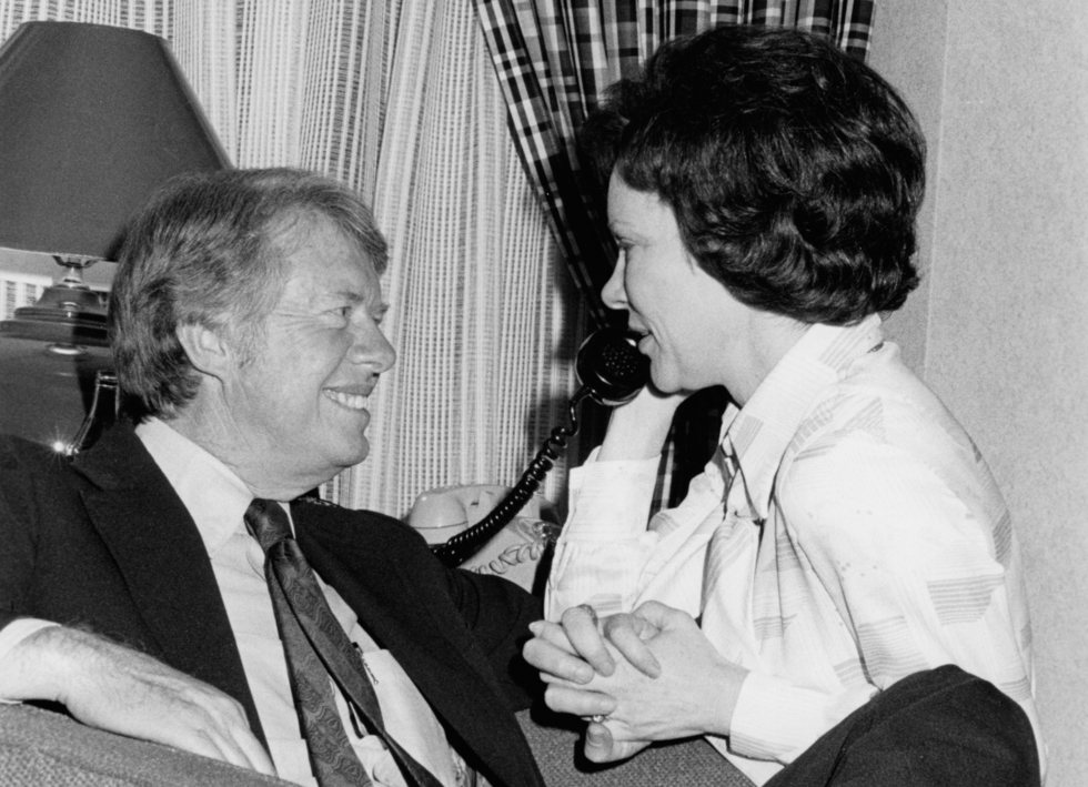 Presidential candidate Jimmy Carter and wife Rosalyn Carter Philadelphia PA