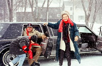 Holly Hunter Danny Aiello and Gena Rowlands on set for Once Around