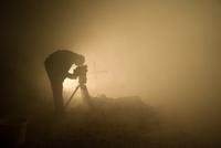 Cameraman filming DriveIn Horrorshow Mendon MA
