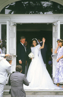 Senator Ted Kennedy and Caroline Kennedy at her wedding Centerville MA