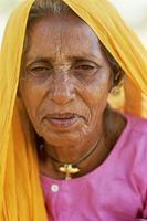 Woman weeding Rambagh Palace Jaipur India